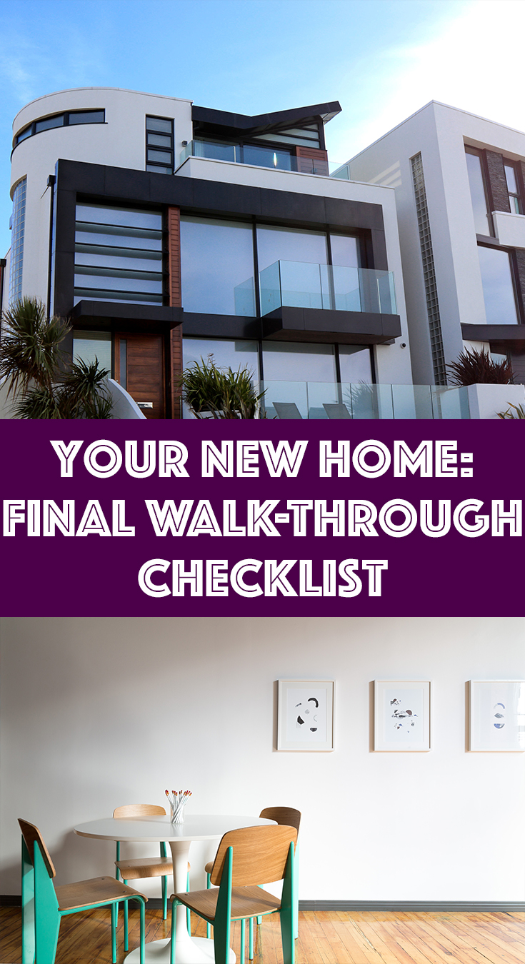your new home final walk through checklist
