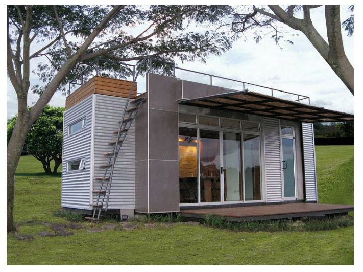 a tiny house made with one single shipping container check it out httpshareablynet160 sq ft shipping container - Tiny Houses Real Estate