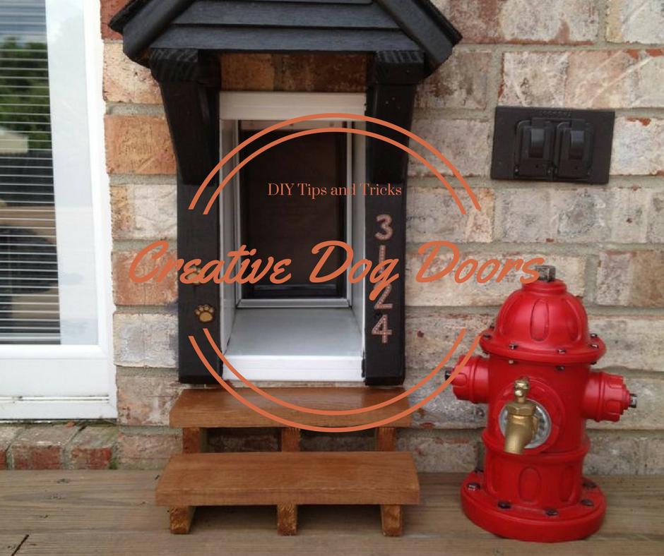 Diy Dog Doors diy tips & tricks: creative dog doors (cats too)