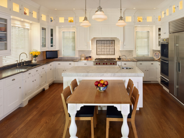 Kitchen Island Table Combination kitchen island-table combos - the susan morris team