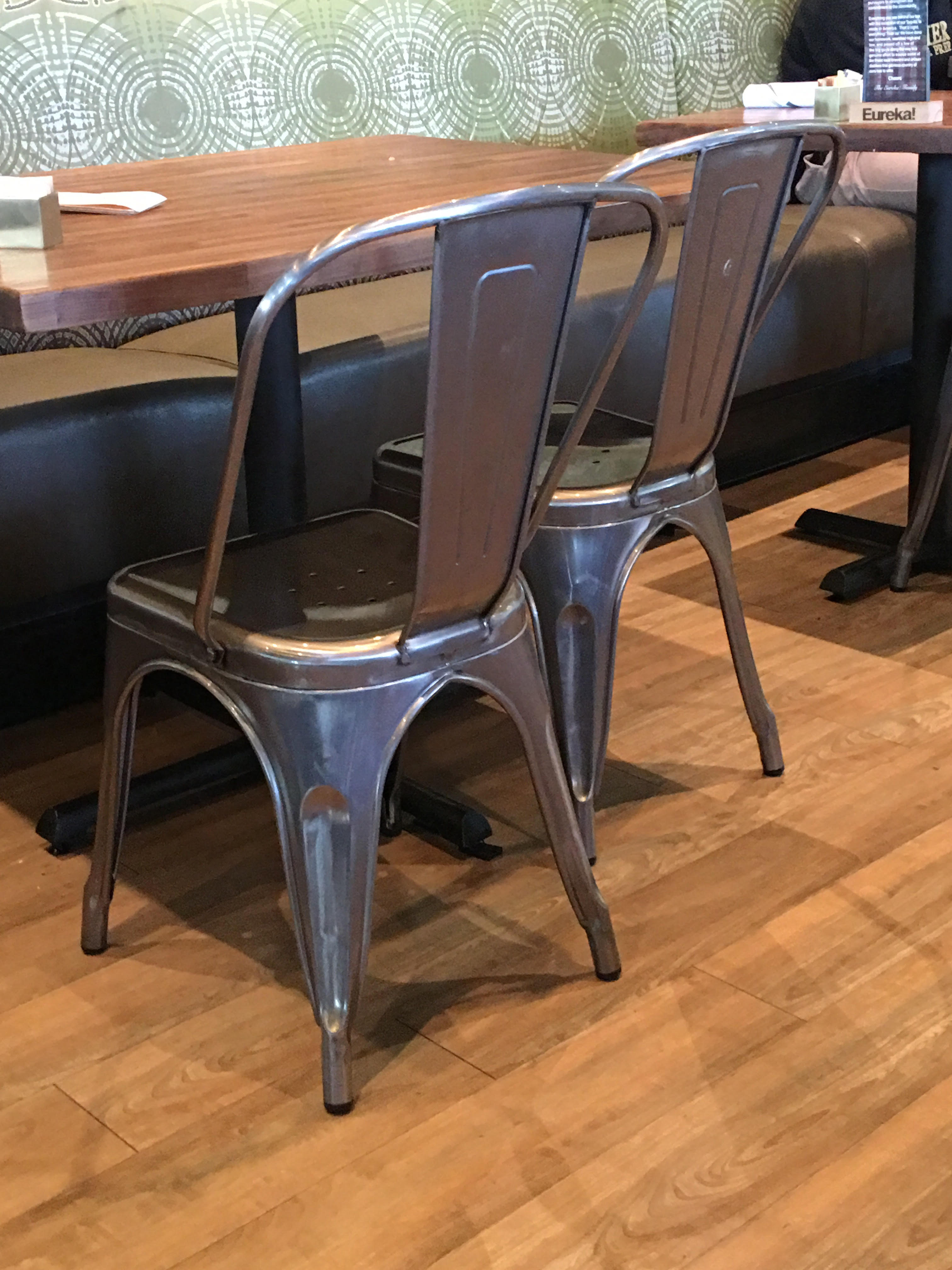 gia cushion tolix dining metal leather seat style back chair pin chairs with