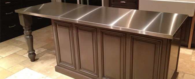 design kitchens countertop countertops metal of steel hgtv rooms stainless cost copper and zinc