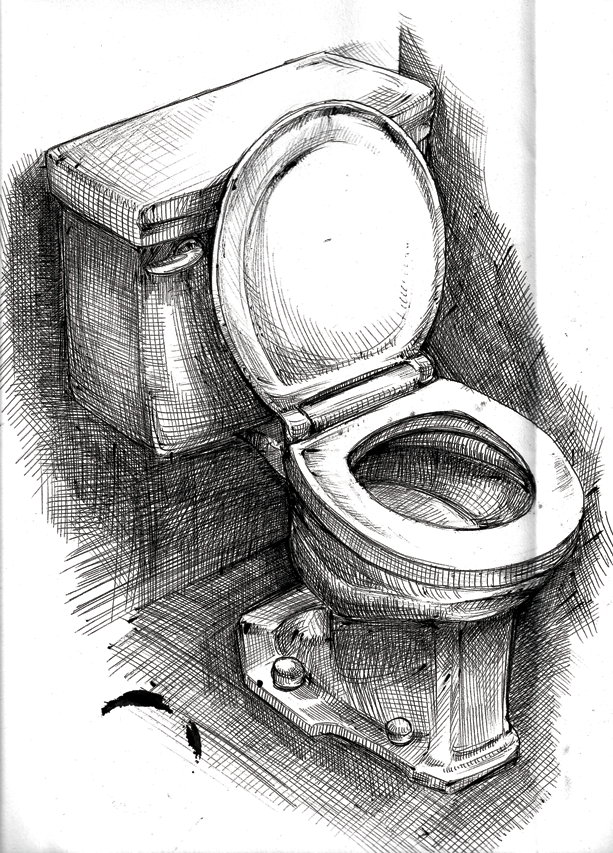 amazing toilet drawing gallery   best inspiration home