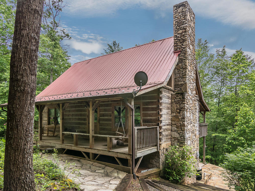 Asheville Mars Hill Mountain Log Cabin Real Estate For Sale
