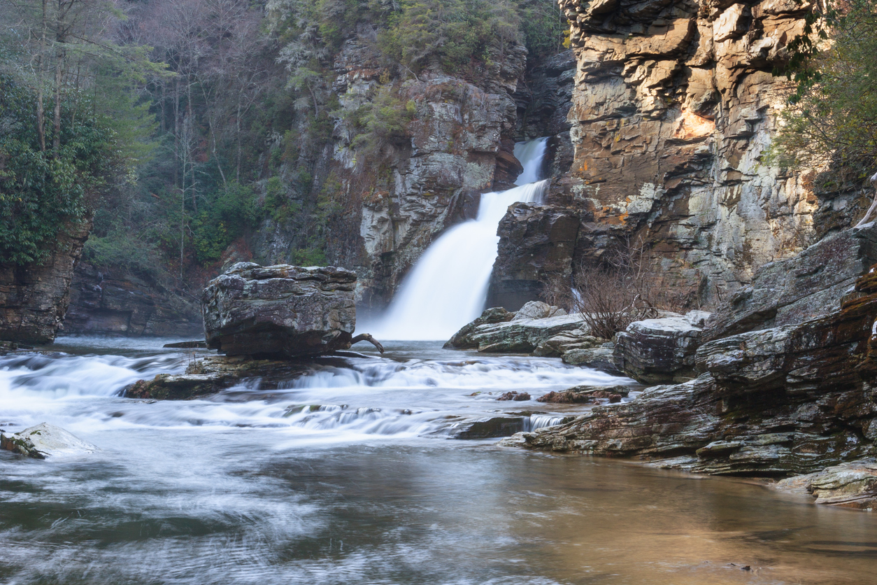 Linville Falls Gorge Waterfall NC