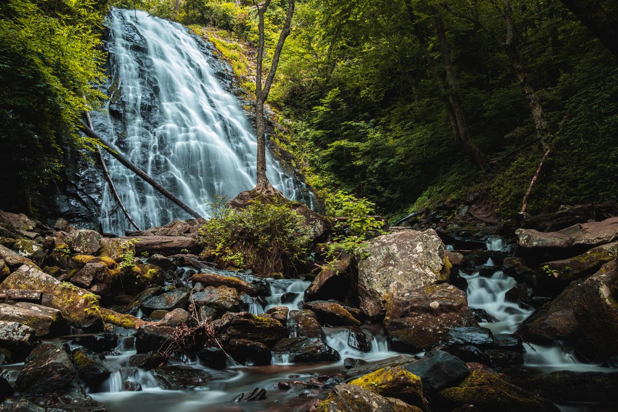 Crabtree Falls Blue Ridge Parkway WNC Waterfall