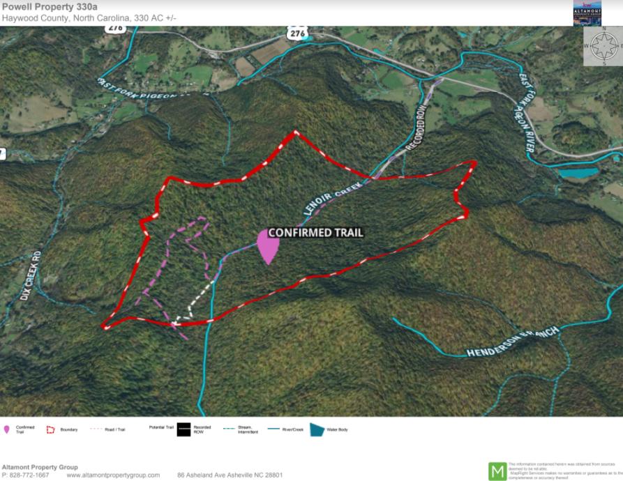 Lenoir Creek Mountain Acreage Land for Sale Waynesville Cold Mountain Shining Rock