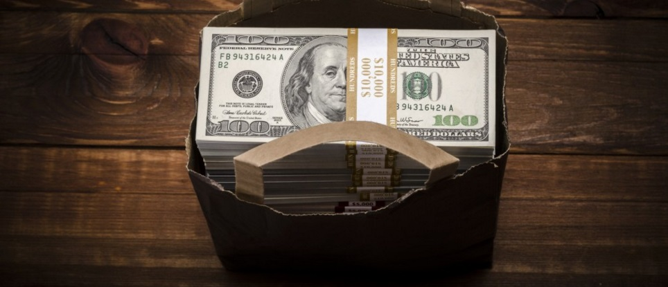 bag full of money