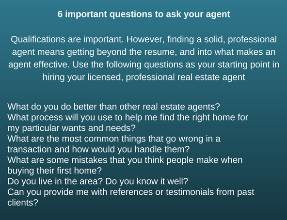 6 questions to ask your realtor