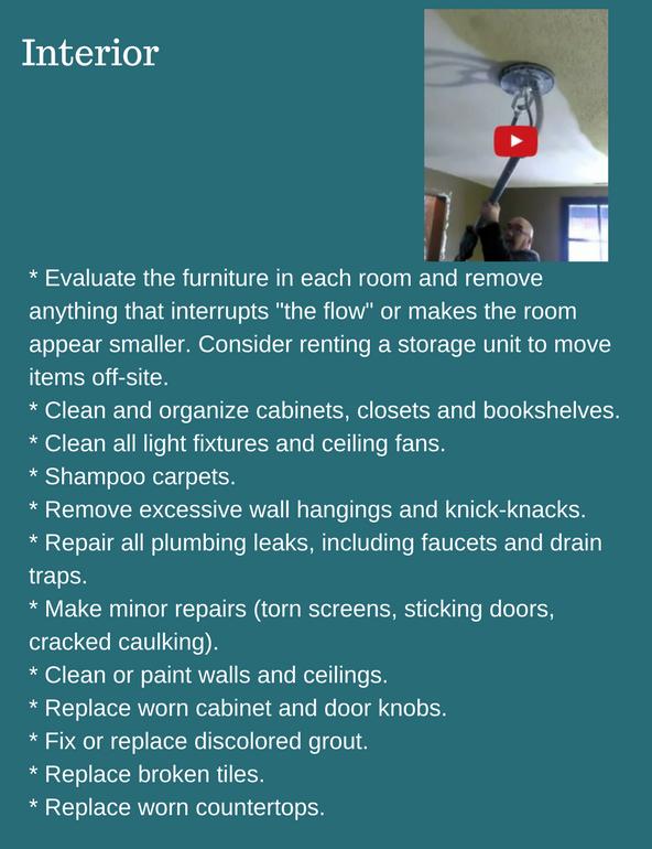 interior cleaning checklist