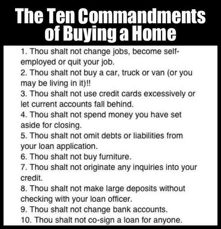 The 10 Commandments To Buying A Home