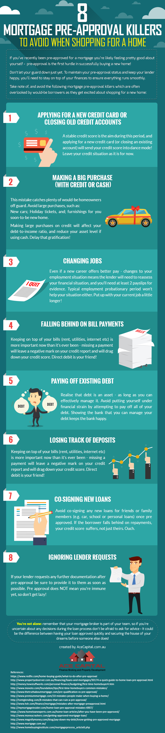 8 mortgage pre-approval killers