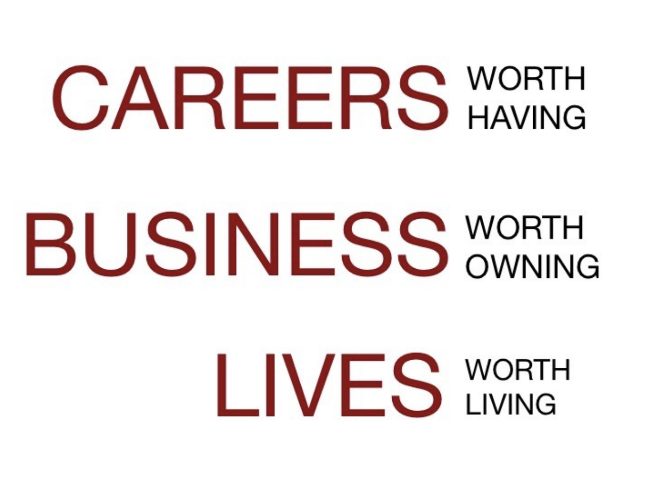 Careers, Business, Lives