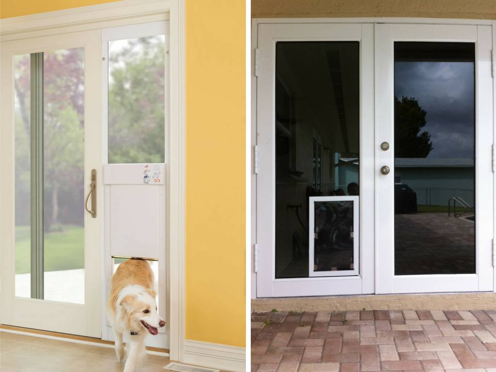 Marvelous One Of The Most Popular Options Iu0027ve Been Seeing Is Installing The Dog Door  Through The Wall. This Way You Can Have It Pretty Much Anywhere In The  House You ...