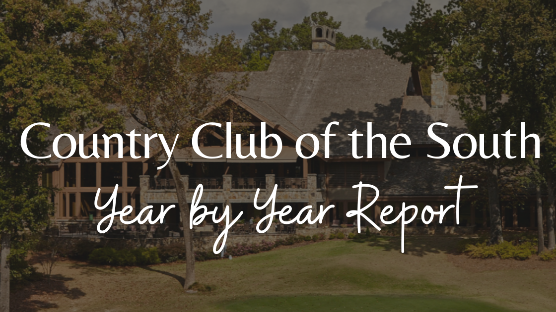 Year by Year Sales for Country Club of the South