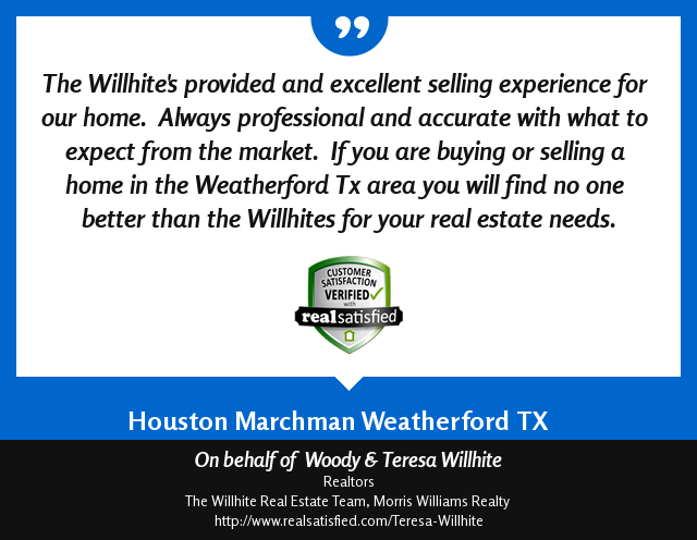 Woody & Teresa Willhite Recommendations – Houston Marchman