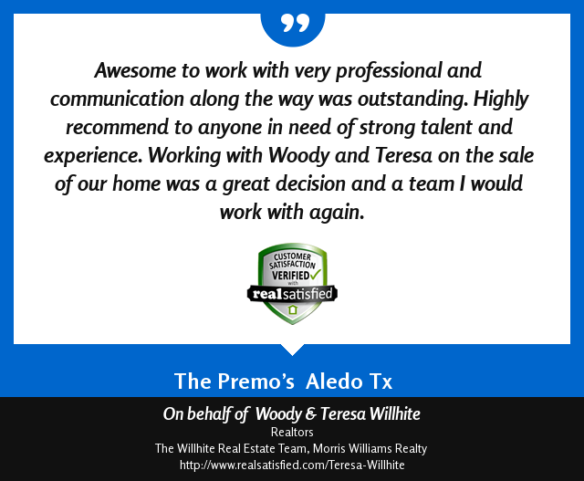 Woody & Teresa Willhite Recommendations – Mike and Shelly Premo