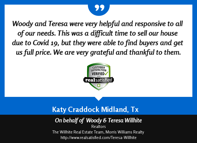Woody & Teresa Willhite Recommendations – Katy Craddock