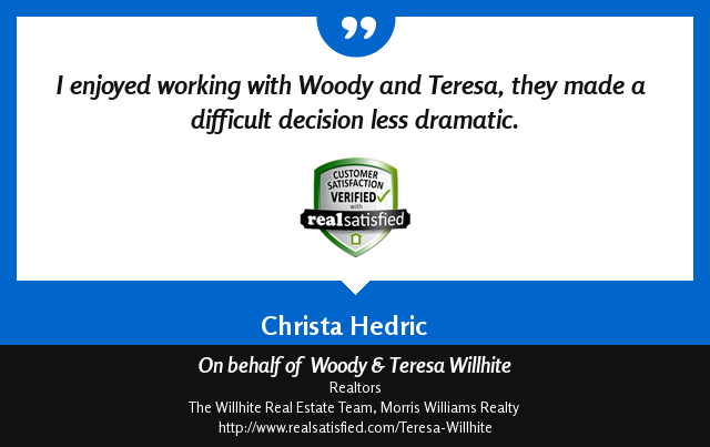Woody & Teresa Willhite Recommendations – Christa Hedric