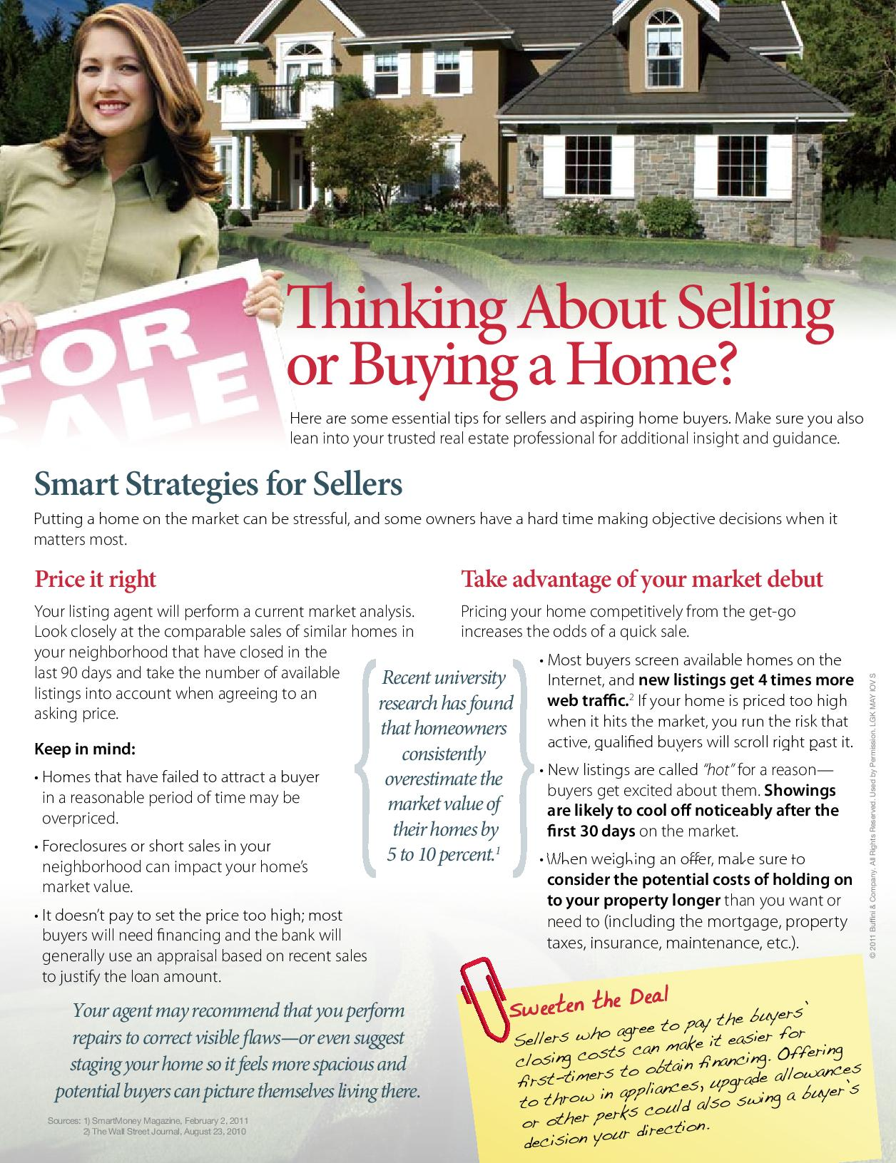 thinking of selling or buying a home