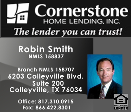 Robin Smith - Cornerstone Home Lending - FireBoss Realty Preferred Lender