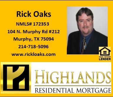 Rick Oaks - Highland Residential Mortgage - FireBoss Realty Preferred Lender