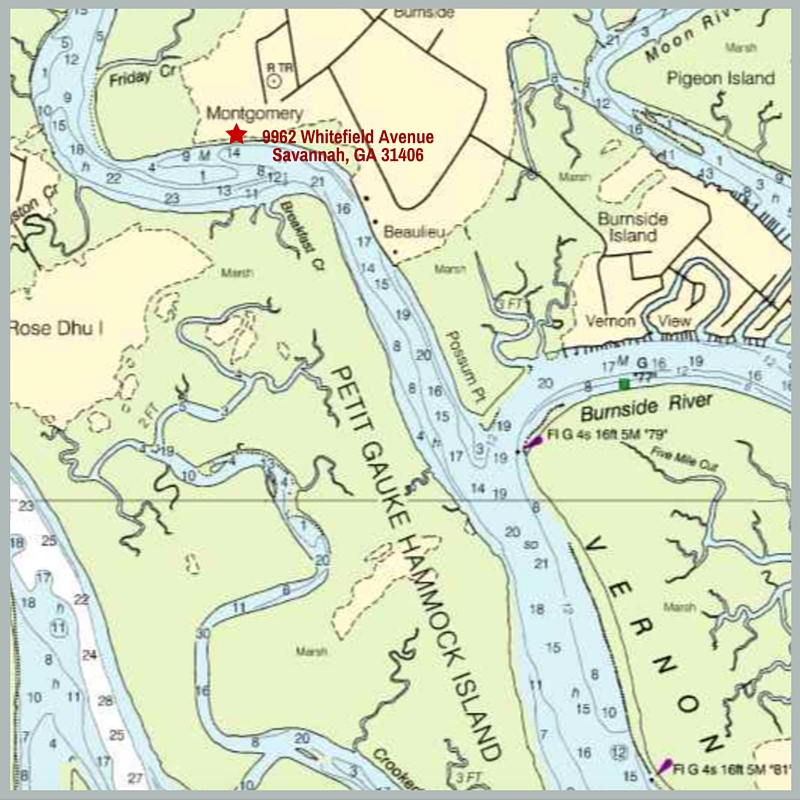 Reasons This Is The BEST Deep Waterfront Property Available In - Georgia map savannah river