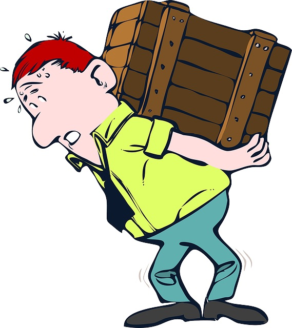 Man moving a box