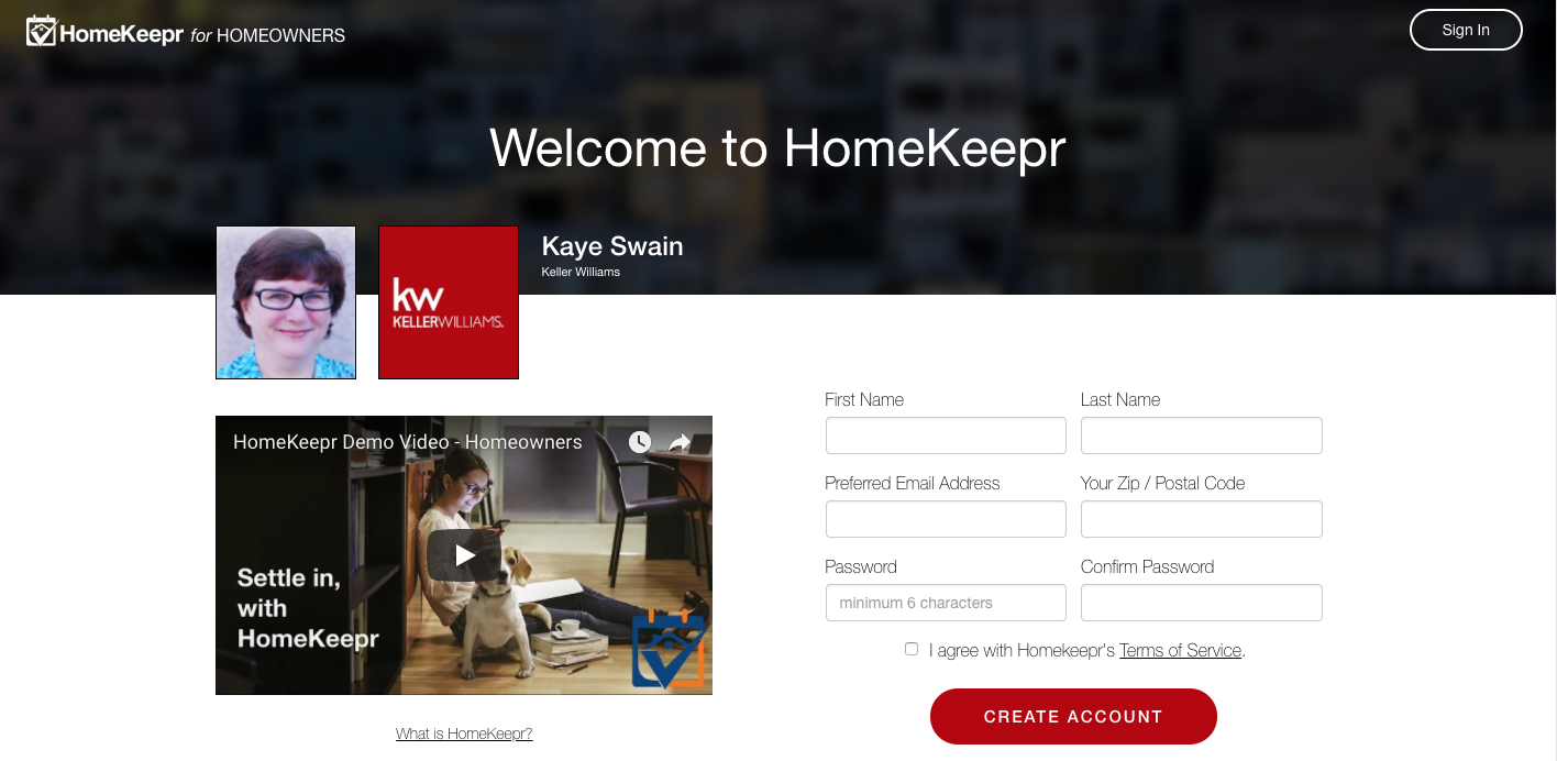 Get your FREE Homekeepr app from Kaye Swain Roseville Real Estate Agent