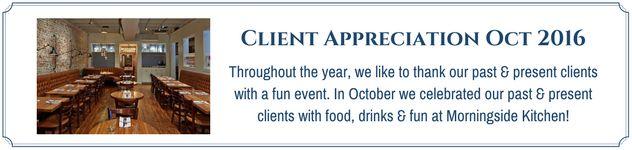 Client Appreciation Morningside Kitchen