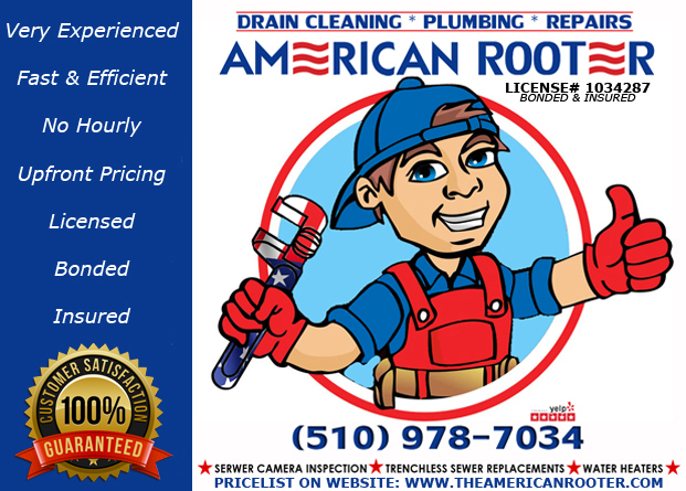 For ALL of your plumbing needs, contact American Rooter: 510-978-7034