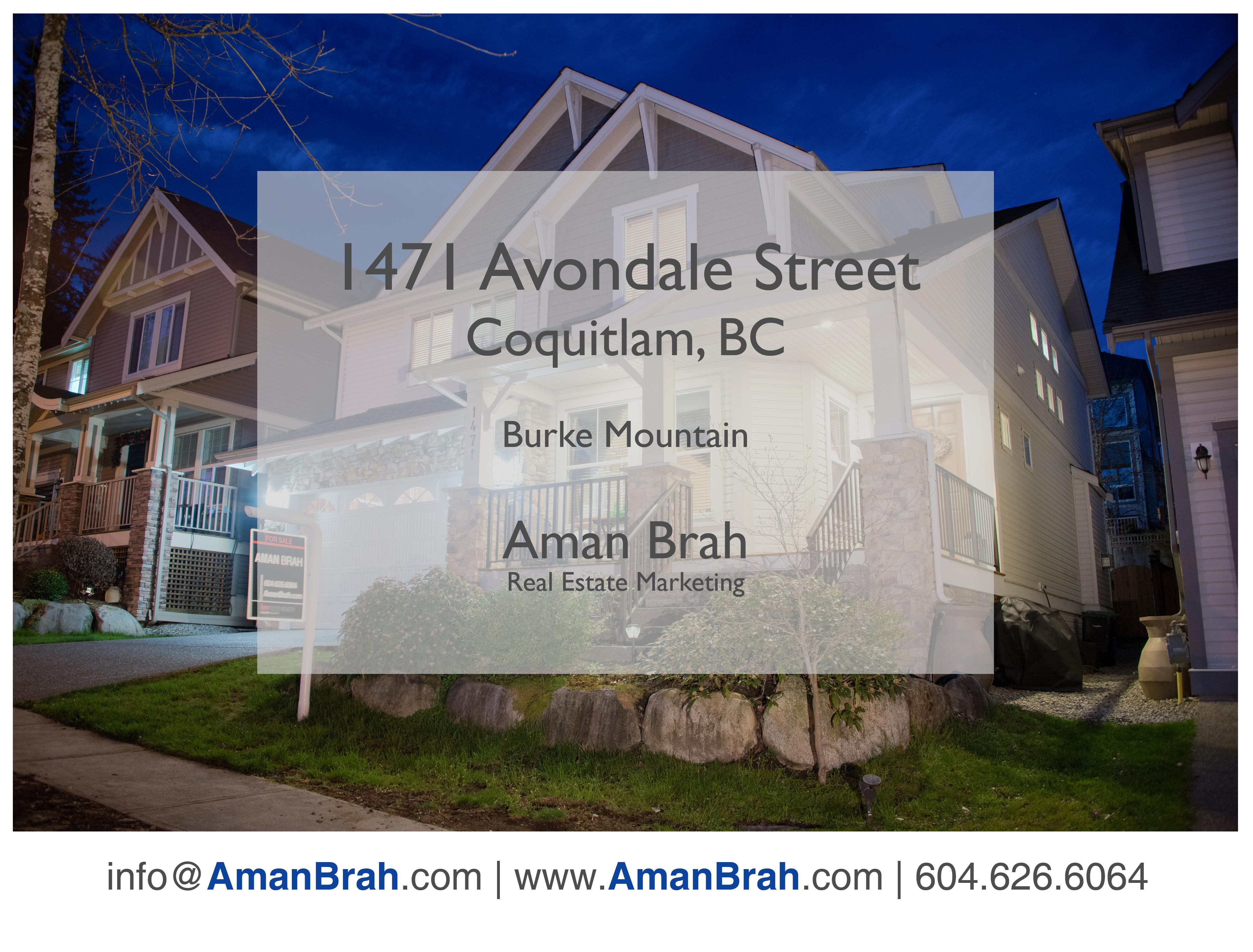 1471 Avondale Street, Coquitlam – Burke Mountain, Coquitlam
