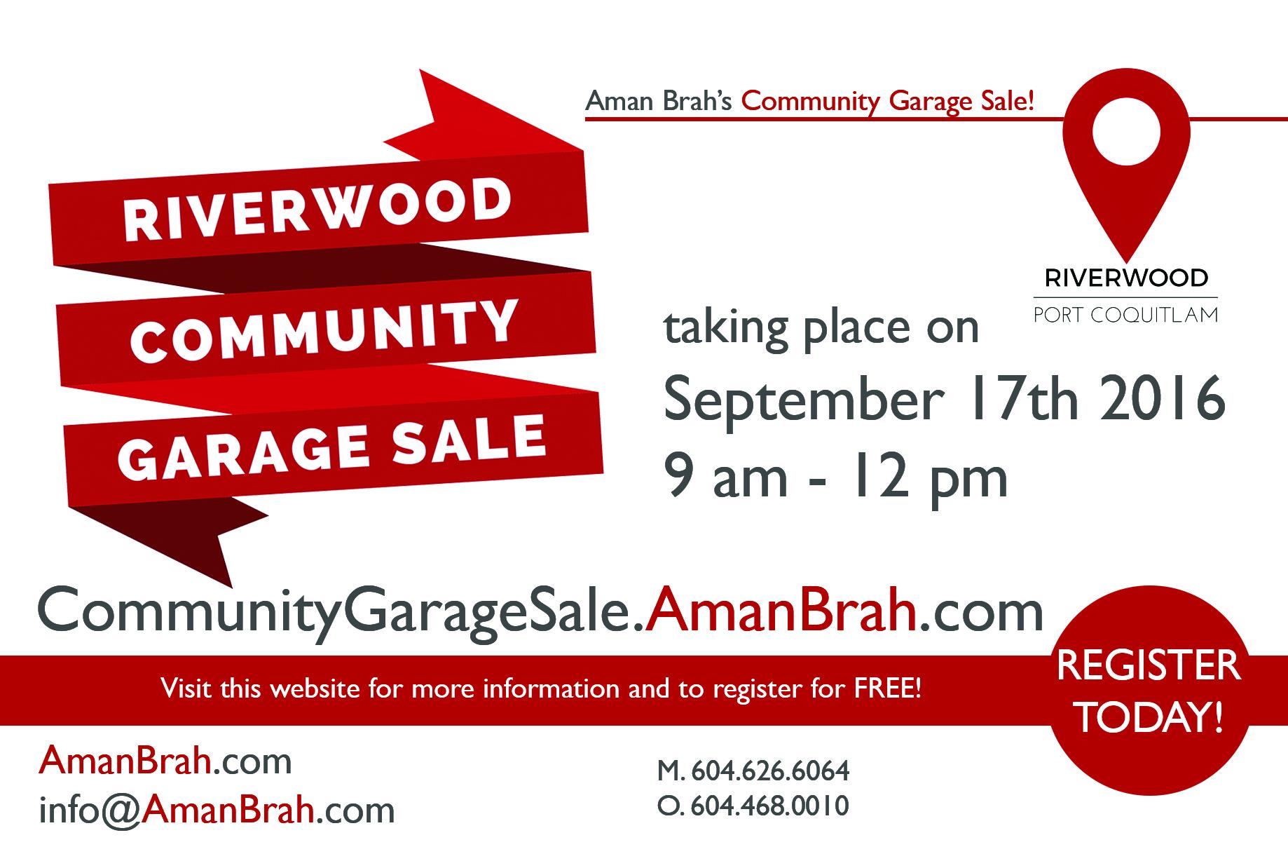 Riverwood Community Garage Sale 2016