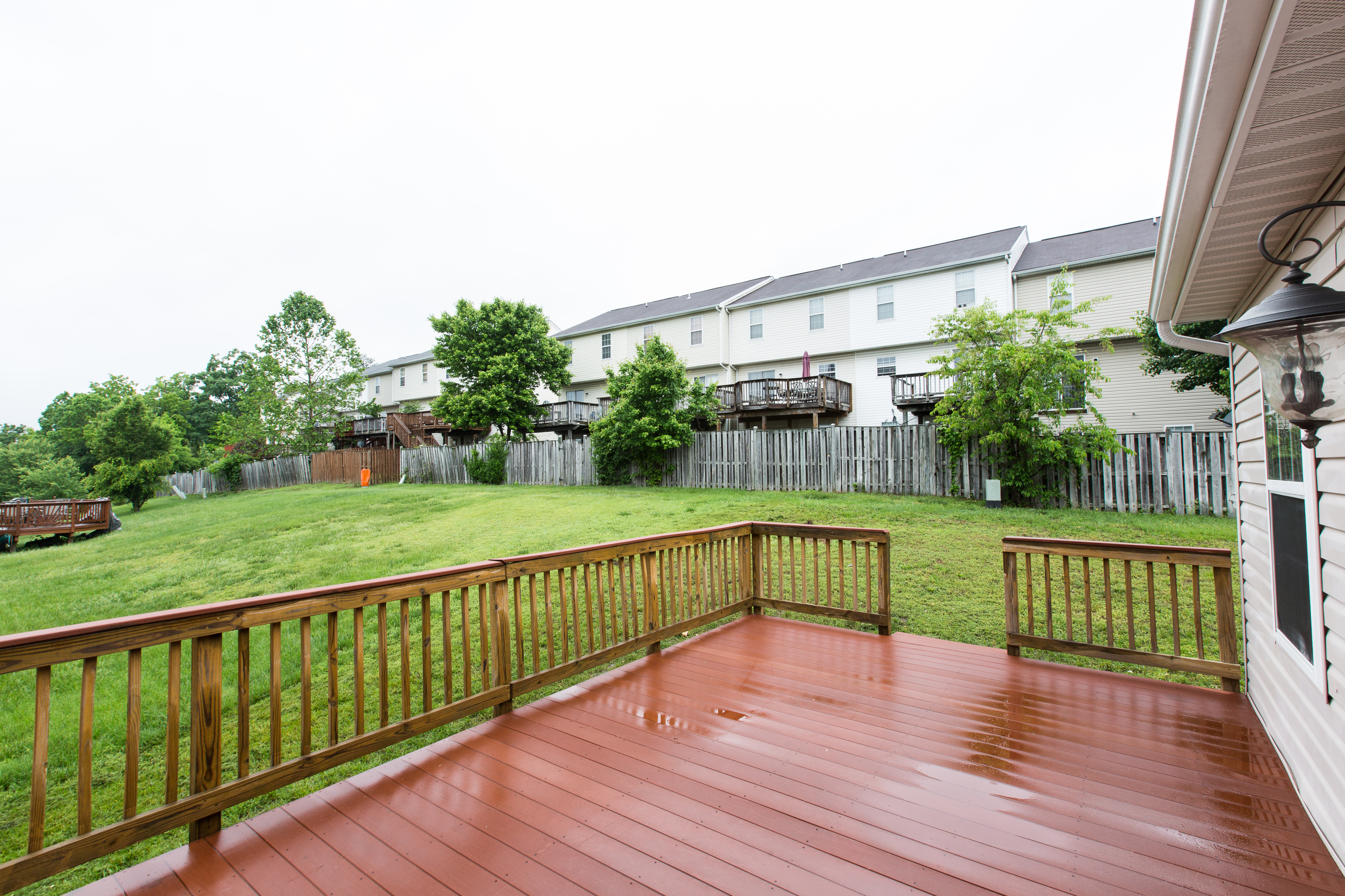 1507 Gould Drive Deck and Backyard