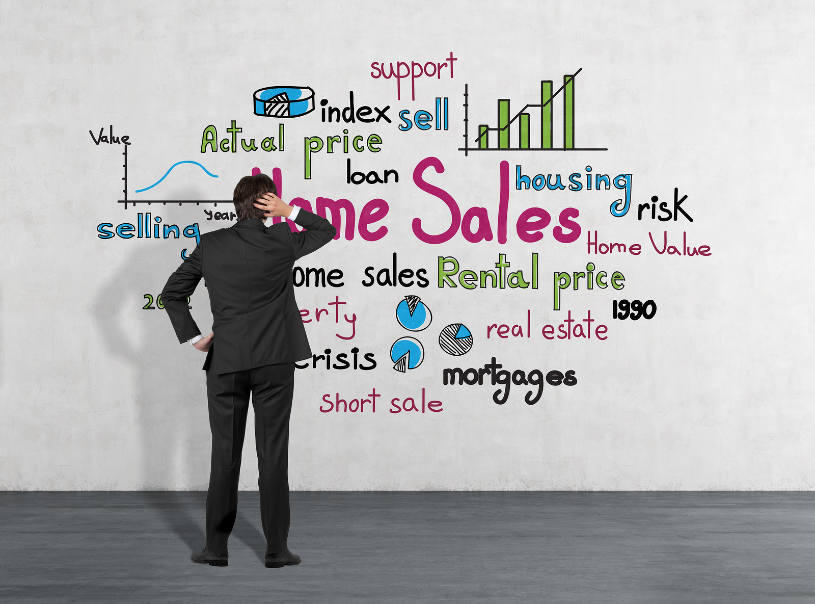real estate concepts such as mortgages, down payments and credit scores