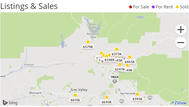 #newhall realtor sona gallatins map of closed escrows