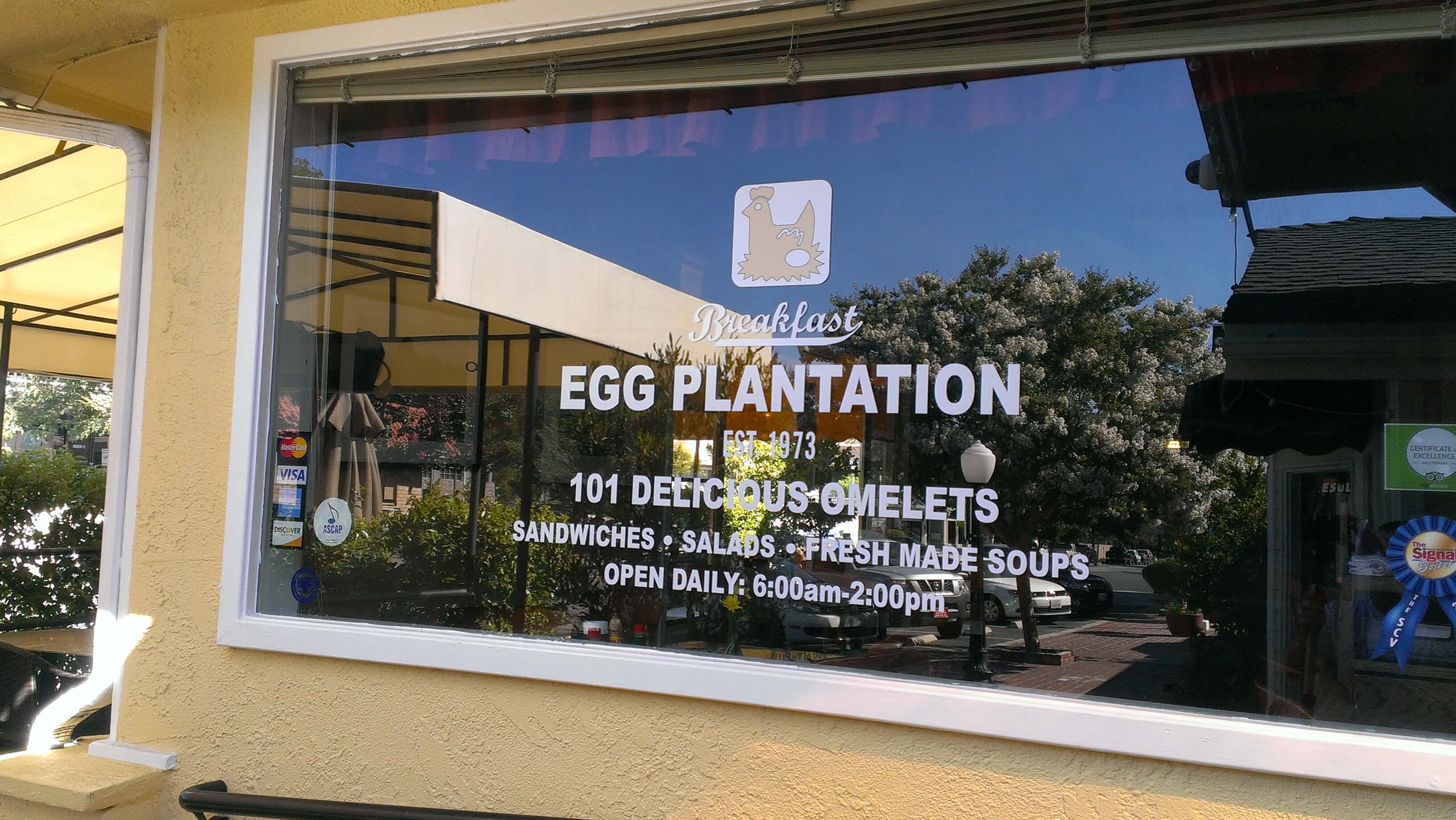 The Egg Plantation is a great breakfast restaurant in Newhall