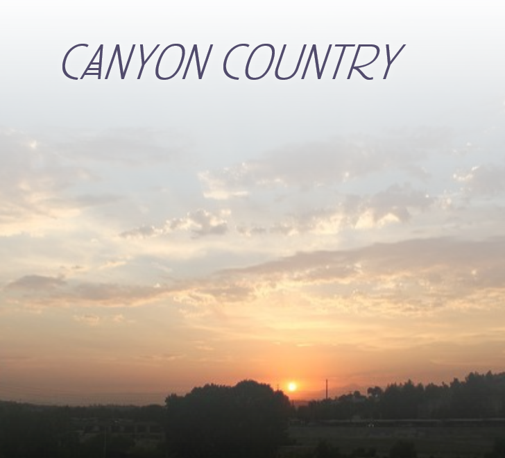 photo of canyon country sunset