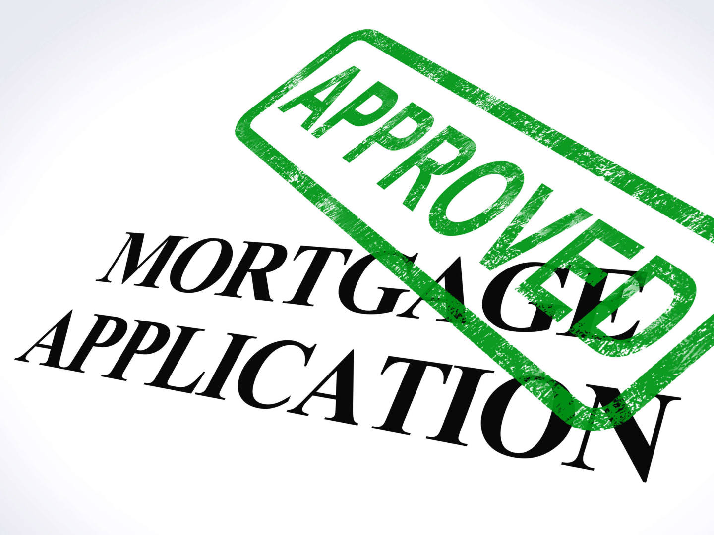 image of mortgage approval stamp
