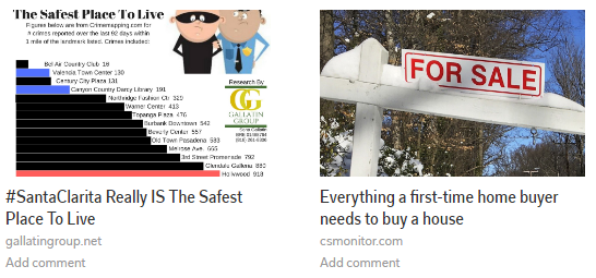 flipboard example - santa clarita is a safe place to live