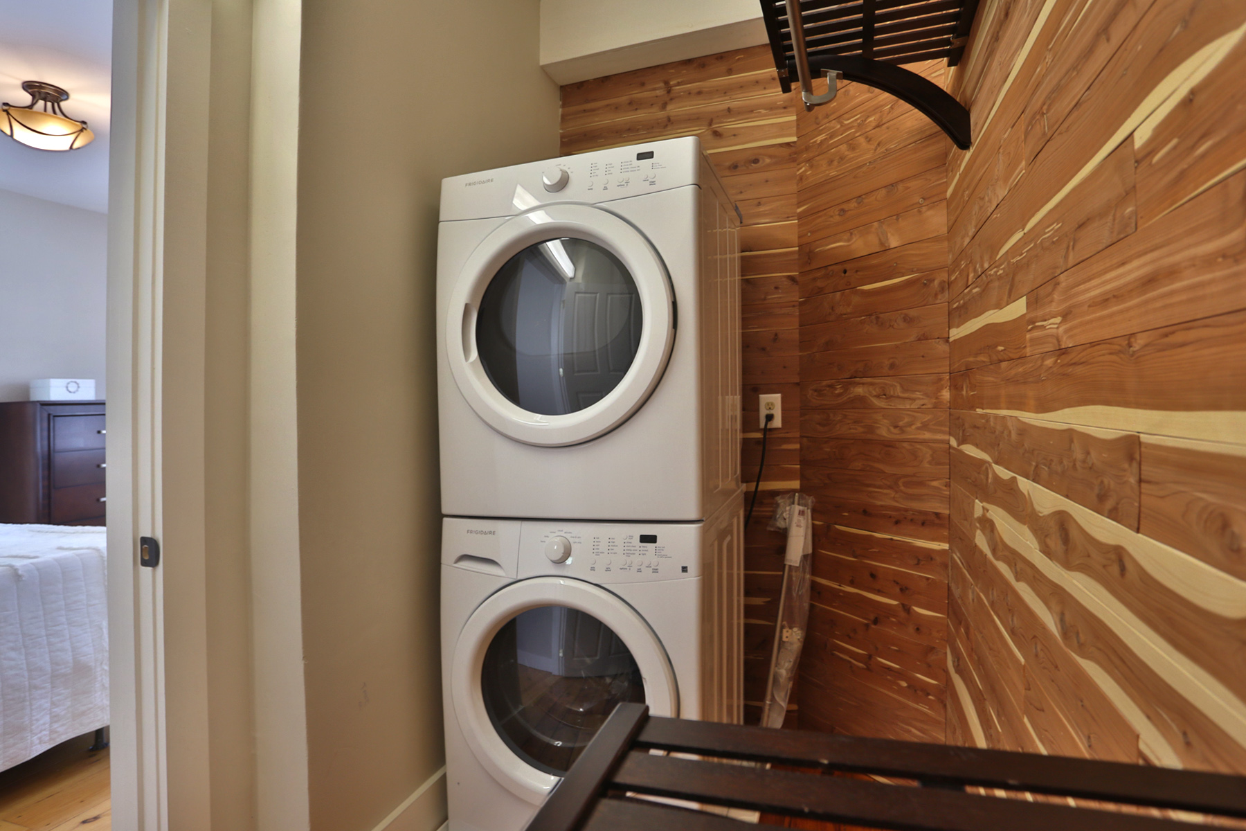 The Master Suite Includes A Luxurious Spa Like Bath And A Cedar Lined Walk  In Closet With Washer/dryer.