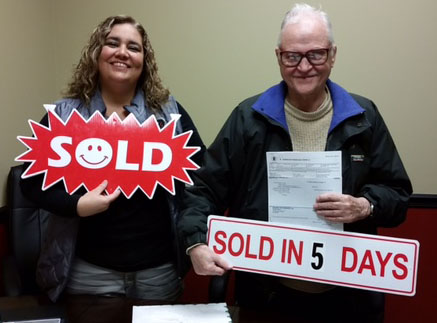 Happy client — I sold his house in just 5 days!