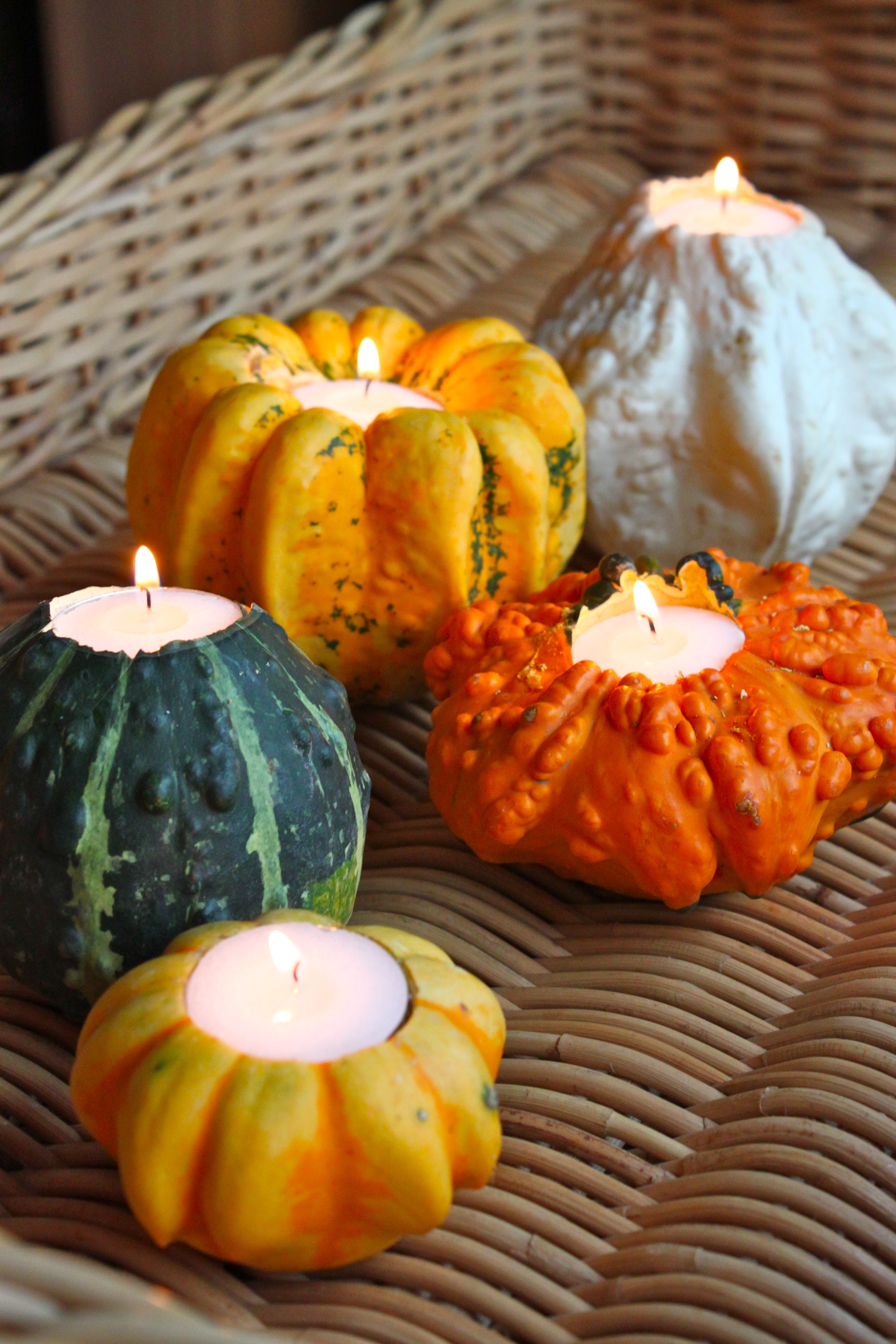 Mini pumpkin decorating ideas - Mini Pumpkin Votive Holders Yes Please Can You Ever Have Enough Of These Very Easy To Make Too