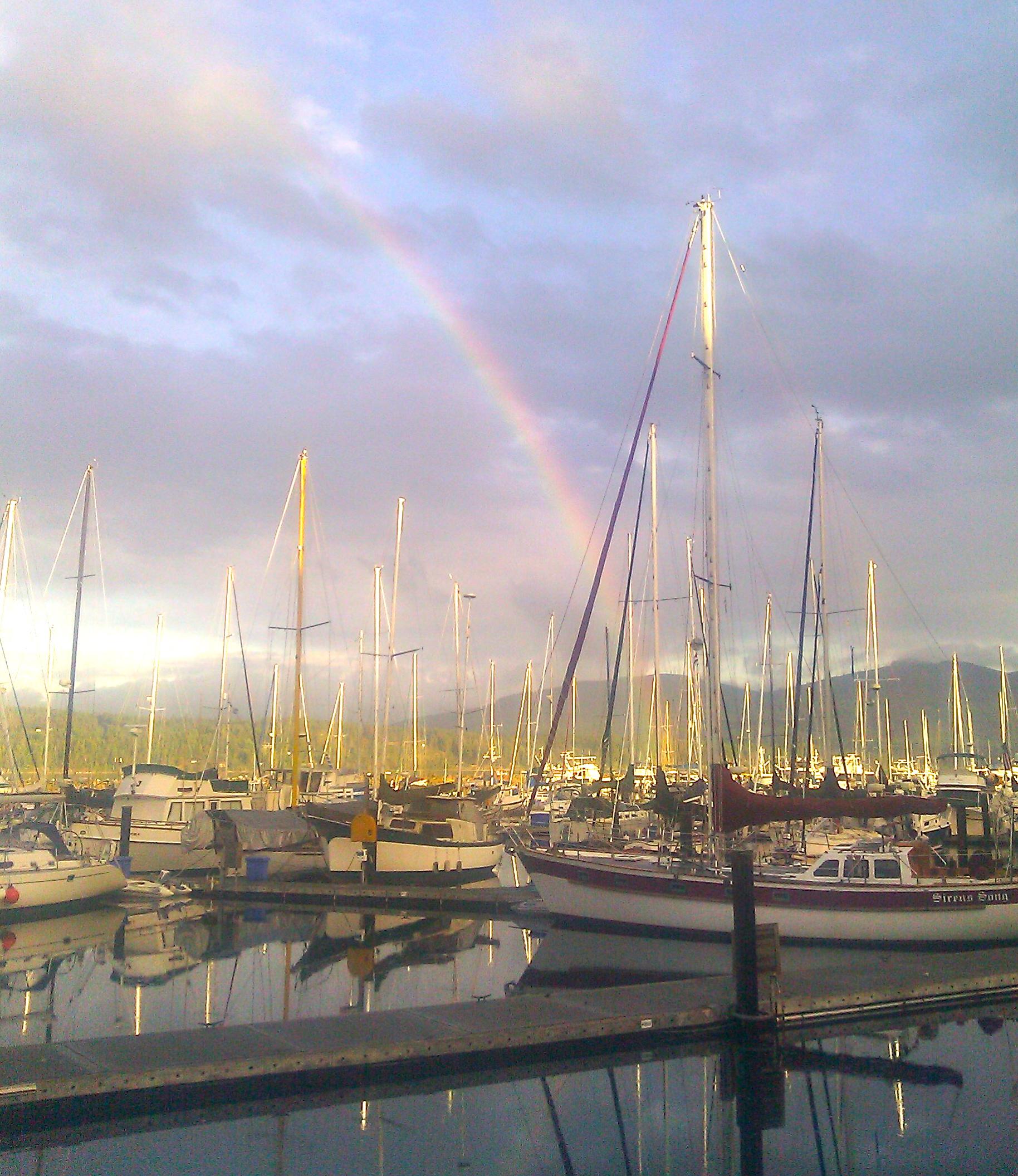 Rainbow at John Wayne Marina