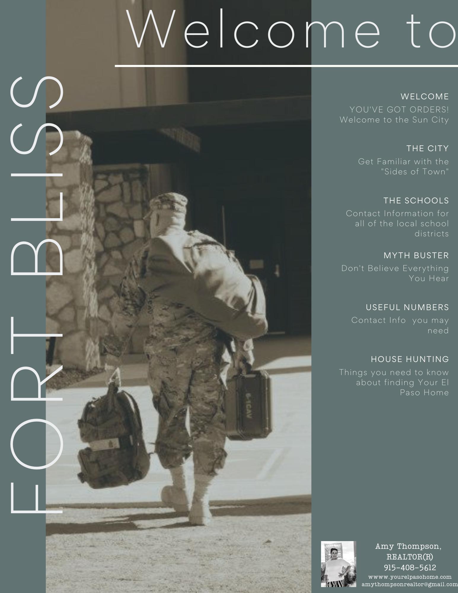 PCS Fort Bliss, Ft Bliss Real Estate
