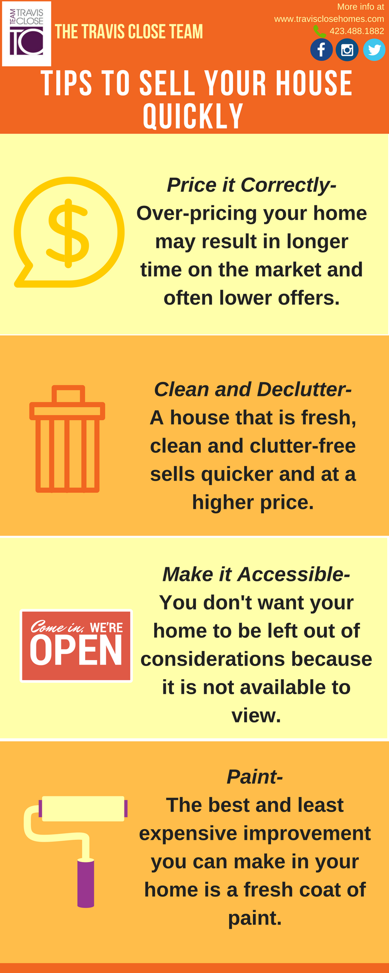 tips for home sellers, how to sell you home fast, fresh paint