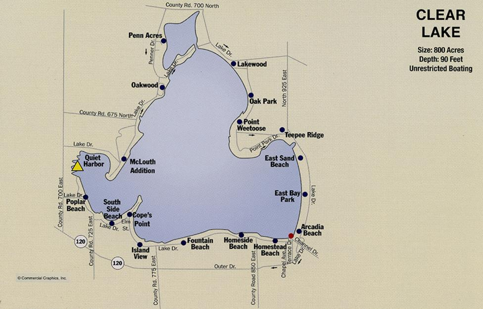 Clear Lake Indiana Map.Lake Maps Craig Ralston Your Real Estate Professional In