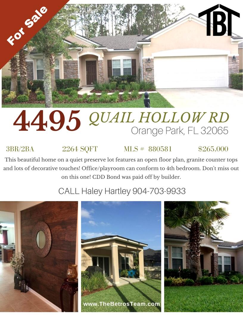New Listing Oakleaf Orange Park FL