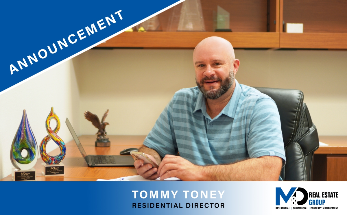 Tommy Toney announced as Residential Director at M&D Real Estate   Serving Rockwall and the Dallas Metroplex