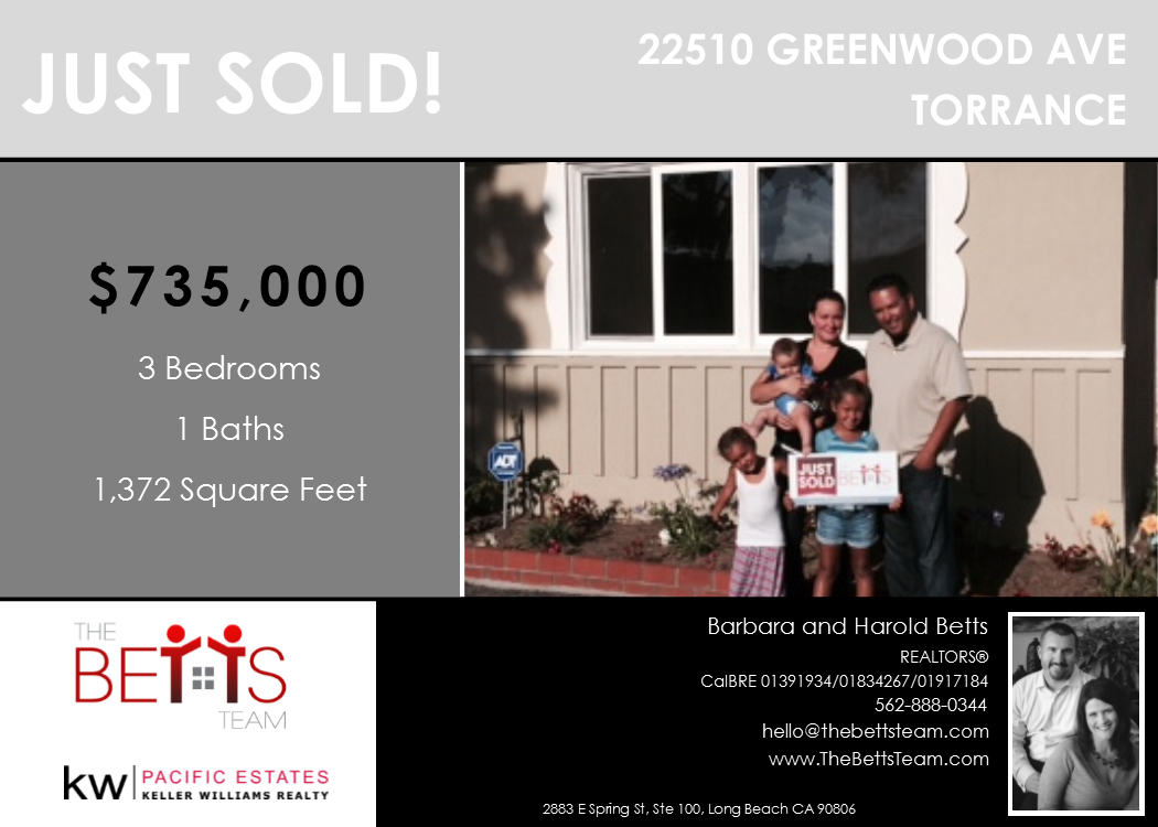 JUST SOLD!!! 22510 Greenwood Ave, Torrance